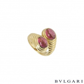 Bvlgari Yellow Gold Amethyst Dress Ring